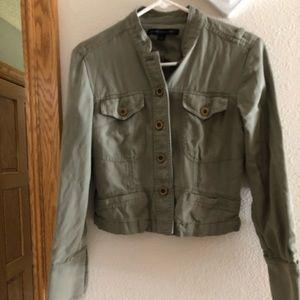 EUC express silk jean jacket green S